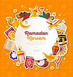 Ramadan Kareem Circle Banner Fotos de archivo libres de regalías