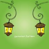 Ramadan Kareem con la lámpara