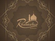 Ramadan Kareem decorative background design. Stock Images