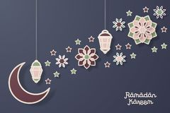 Ramadan Kareem Design Background Illustration Images libres de droits