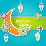 Ramadan Kareem Design Background Illustration Photos stock