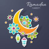 Ramadan Kareem Design Background illustration Royaltyfria Bilder