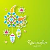 Ramadan Kareem Design Background illustration Arkivbild