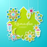 Ramadan Kareem Design Background illustration Arkivfoton