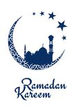 Ramadan Kareem design with mosque and moon Royalty Free Stock Photography