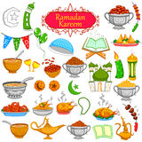 Ramadan Kareem designing object Royalty Free Stock Photography