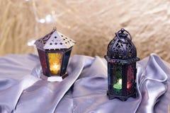 Ramadan Kareem eller eidalfitrlyktor Arkivfoton