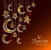 Ramadan Kareem-Feiergrußkarte Stockfotos