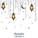 Ramadan Kareem festive background. White greeting card. Royalty Free Stock Image