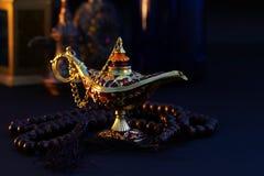 Ramadan Kareem festlig hälsning royaltyfri bild