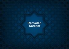 Ramadan Kareem, fond bleu-fonc? avec l'ornement oriental illustration stock