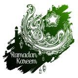 Ramadan Kareem Generous Ramadan-groeten in Arabische kalligrafie uit de vrije hand Royalty-vrije Stock Fotografie