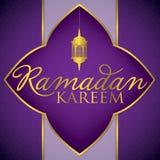 Ramadan Kareem Generous Ramadan. Label Ramadan Kareem Generous Ramadan card in vector format Stock Photography