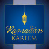 Ramadan Kareem Generous Ramadan. Label Ramadan Kareem Generous Ramadan card in vector format Royalty Free Stock Photos