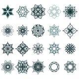 Ramadan Kareem geometric ornamental signs. Vector set of arabic seamless textures. 20 Ramadan Kareem geometric ornamental signs. Vector set of arabic seamless Royalty Free Illustration