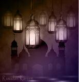 Ramadan Kareem, greeting background Stock Photography