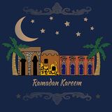 Ramadan Kareem.Greeting card. Stock Photos