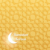 Ramadan Kareem Greeting Card con il modello musulmano senza cuciture Immagine Stock