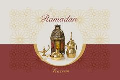 Ramadan Kareem greeting card congratulation Stock Image