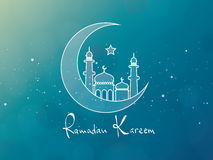 Ramadan Kareem Greeting Card Design Foto de Stock