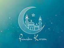 Ramadan Kareem Greeting Card Design Foto de archivo