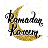 Ramadan Kareem greeting card design template Stock Images