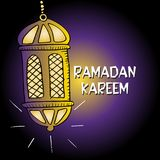 Ramadan Kareem greeting card. ` Islamic celebration royalty free illustration