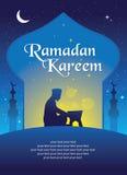 Ramadan Kareem Greeting-kaartmalplaatje Stock Afbeelding