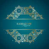 Ramadan Kareem greeting template. With classic arabic ornament, vector illustration Royalty Free Stock Image