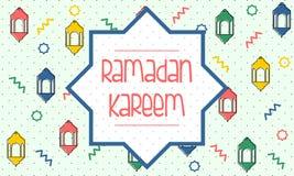 Ramadan Kareem Greeting Template - vetor ilustração royalty free