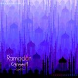 Ramadan Kareem Greetings for Ramadan background with Islamic Mosque Royalty Free Stock Image