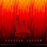 Ramadan Kareem Greetings for Ramadan background with Islamic Mosque Stock Photography