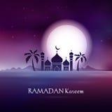 Ramadan Kareem hälsningkort Royaltyfri Foto