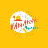 Ramadan Kareem - Handmade template. Isolated vector object logo is a badge for your design Stock Photo