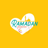 Ramadan Kareem - Handmade template. Isolated vector object logo is a badge for your design Stock Photography