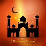 Ramadan Kareem Happy  background with Islamic Mosque Royalty Free Stock Image