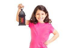 Ramadan Kareem - Happy Young Girl in Ramadan stock image