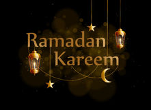 Ramadan-kareem Hintergrundgold-glowng Laternen Lizenzfreie Stockbilder