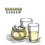 Ramadan Kareem Iftar party celebration with dates. Stock Photo