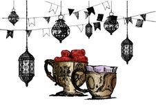 Ramadan Kareem Iftar party celebration, Hand Drawn Sketch Vector illustration. Ramadan Kareem Iftar party celebration, Hand Drawn Sketch Vector illustration vector illustration