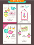 Ramadan Kareem Iftar party celebration posters. Stock Photo
