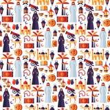 Ramadan Kareem-Ikonen eingestellt vom arabischen flachen Design Stockfotos
