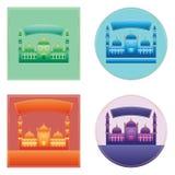 Ramadan Kareem India Delhi color sticker space set Royalty Free Stock Images