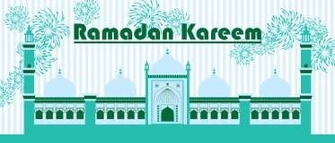 Ramadan Kareem India Delhi extiende la bandera Imagenes de archivo