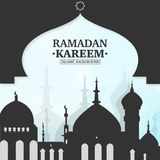 Ramadan Kareem islamic background. With city royalty free illustration