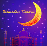 Ramadan Kareem islamic background. Eid mubarak. Islam holly mont. H. . Ramadan greeting template. Arabic design Stock Images