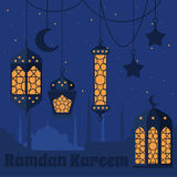 Ramadan Kareem - Islamic Holy Nights, Theme Design background, Ramadan latern, saint fest, arabian and turk religion culture set,. Ramadan Kareem - Islamic Holy Royalty Free Stock Photos