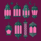 Ramadan Kareem - Islamic Holy Nights, Theme Design background, Ramadan latern, saint fest, arabian and turk religion culture set,. Ramadan Kareem - Islamic Holy Royalty Free Stock Images