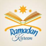 Ramadan Kareem, Islamic Koran. Ramadan Kareem greeting card with Islamic Koran. Illustration for muslim holy month Ramadan. Vector Royalty Free Stock Images