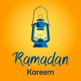 Ramadan Kareem karta z lampą ilustracji